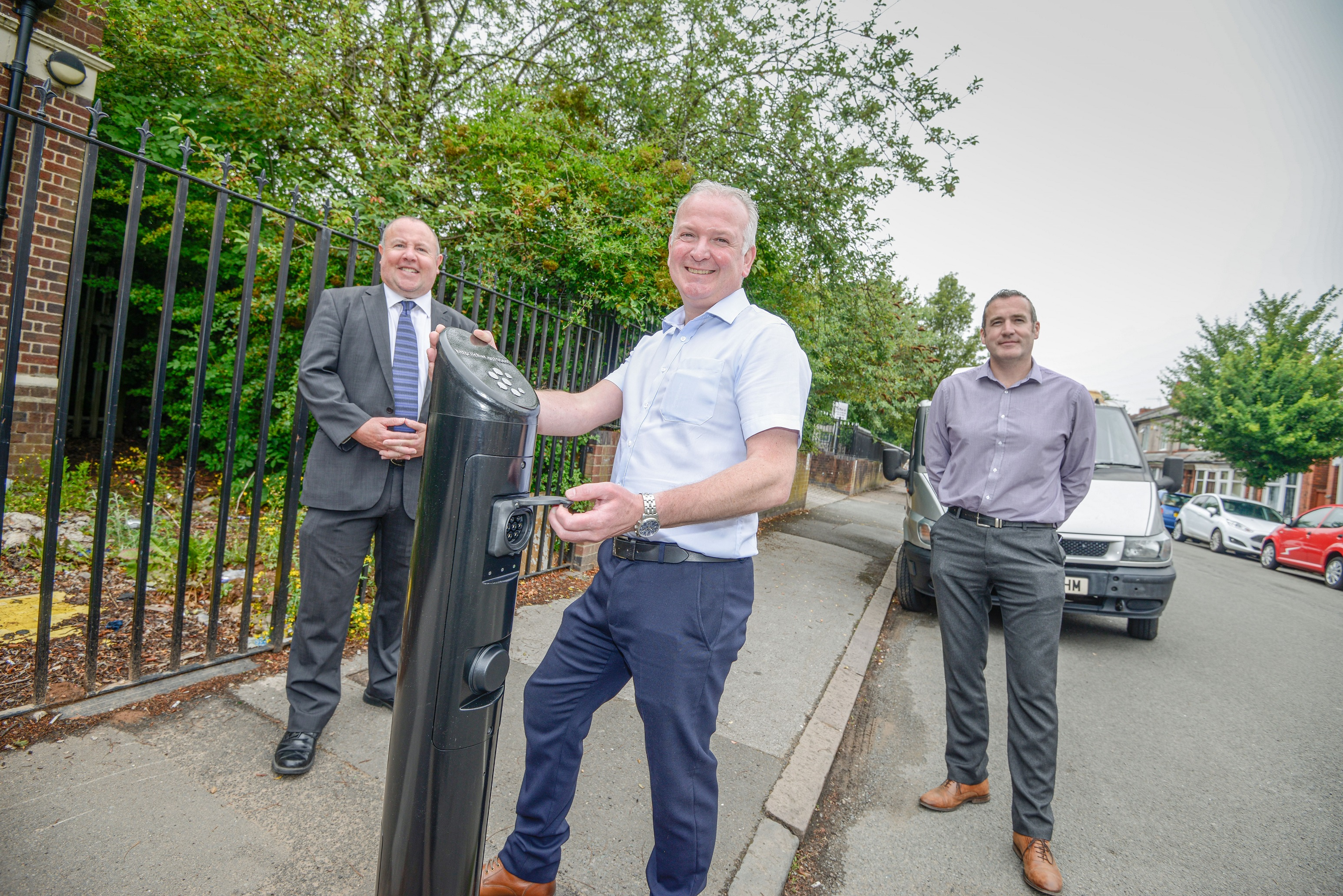 Charging points made by Sarginsons installed across Coventry